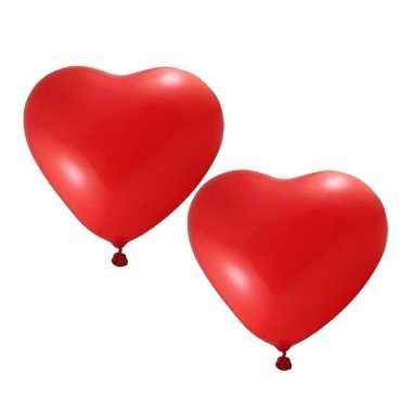 24x valentijn hartjes ballonnen rood kado