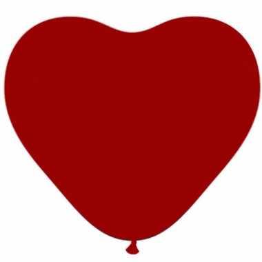 50x valentijn hartjes ballonnen donker rood kado