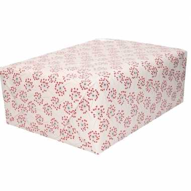 5x inpakpapier/kadopapier hartjes print 200 x 70 cm rollen