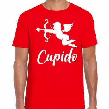 Cupido liefde valentijn verkleed t shirt rood voor heren kado