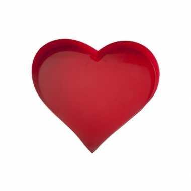 Dienblad hartvormig 30 cm kado