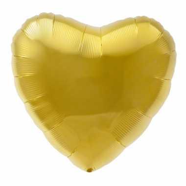 Folie ballon gouden hart kado