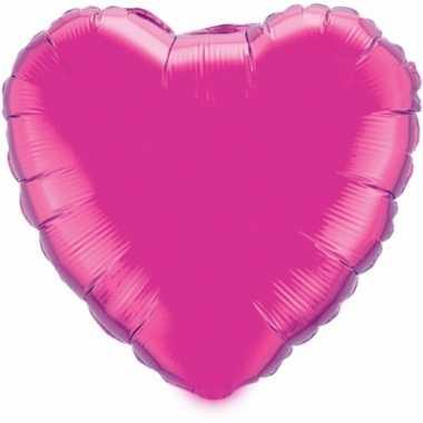 Folie ballon hart fuchsia 52 cm kado