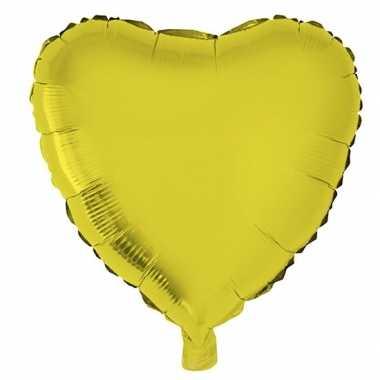 Folie ballon hart goud 52 cm kado