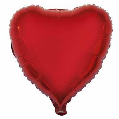 Folie ballon hart rood 52 cm kado