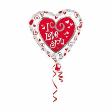 Folie ballon i love you kado