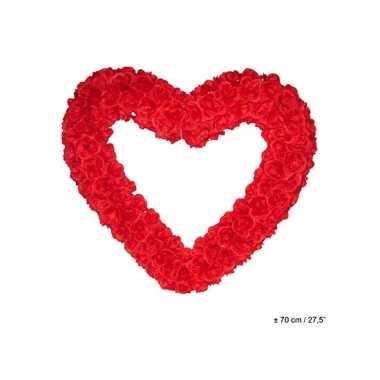 Groot decoratie hart 70 cm rood kado