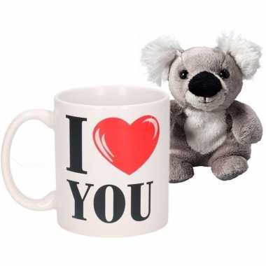 I love you mok met koala knuffel kado