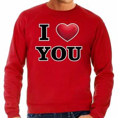 I love you valentijn sweater rood voor heren kado