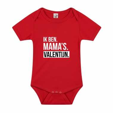 Mamas valentijn kado baby rompertje rood jongens/meisjes