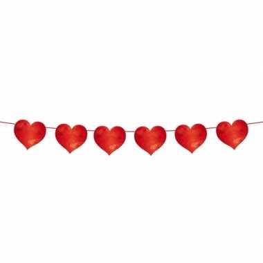 Slinger rode hartjes 6 meter valentijn en bruiloft versiering kado