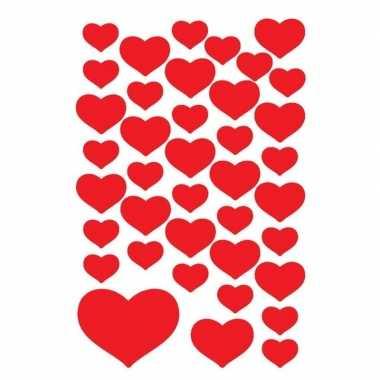 Valentijn 120x hartjes stickers kado