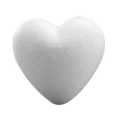 Valentijn 1x piepschuim hartje van 12 cm kado