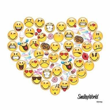 Valentijn 20x smileys hart servetten 33 x 33 cm kado