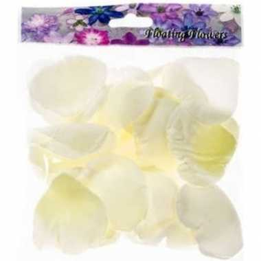 Valentijn 36x witte strooi rozenblaadjes decoratie kado