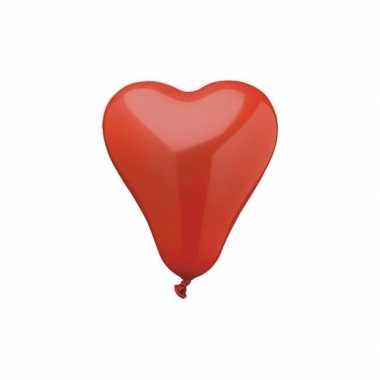 Valentijn 50 hartjes ballonnen rood kado