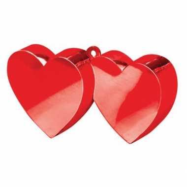 Valentijn ballon gewichtje rode hartjes kado