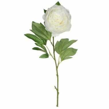 Valentijn creme pioenroos kunstbloem 76 cm kado