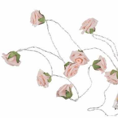 Valentijn decoratie led verlichting rozen 140 cm kado