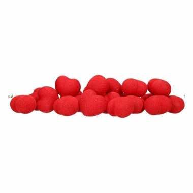 Valentijn feestverlichting rode hartjes 20 lichtjes kado