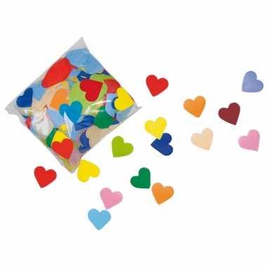 Valentijn gekleurde hartjes confetti 250 gram kado