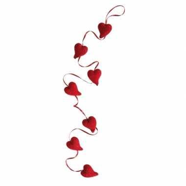 Valentijn glitter hartjes slinger 120 cm kado