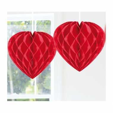 Valentijn hangdecoratie hart rood 30 cm kado
