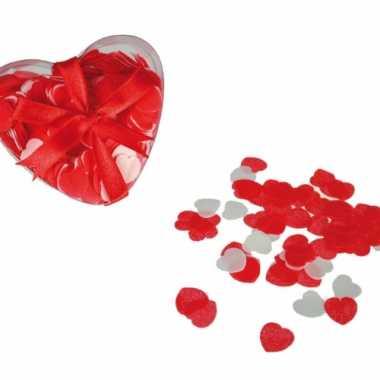 Valentijn hartjes bad confetti 20 gram in hartjes doosje kado