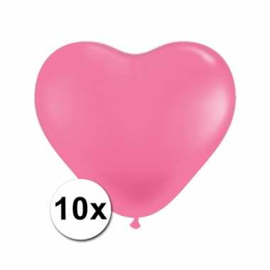 Valentijn hartjes ballonnen roze 10 stuks kado