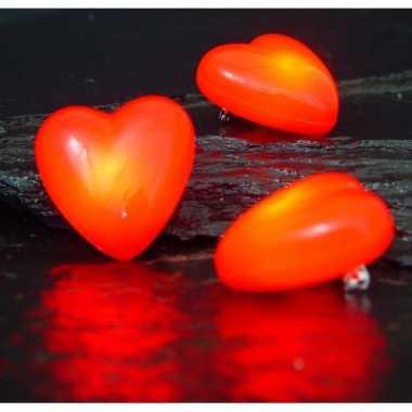 Valentijn hartjes broche met knipperlicht kado