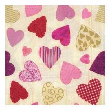 Valentijn hartjes servetten kado