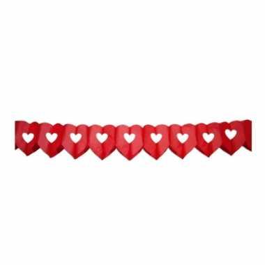 Valentijn hartjes slinger 6 meter rood kado