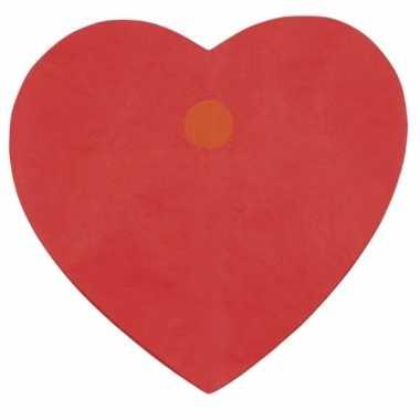 Valentijn hartjes slinger rood 4 meter kado