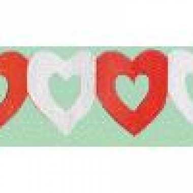 Valentijn hartjes slinger rood/wit kado