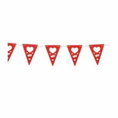Valentijn hartjes vlaggenlijn 4 meter kado