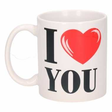 Valentijn i love you beker / mok 300 ml kado