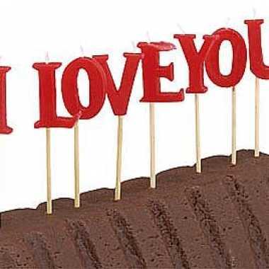 Valentijn kaarsjes i love you kado
