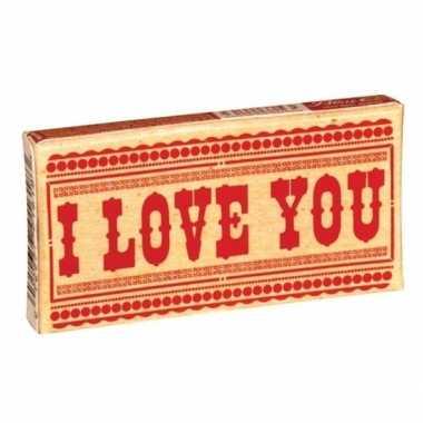 Valentijn kauwgom: i love you kado