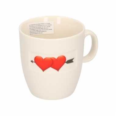 Valentijn koffiekop met 2 hartjes kado