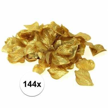 Valentijn luxe goudgele rozenblaadjes 144 stuks kado