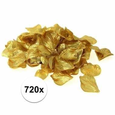 Valentijn luxe goudgele rozenblaadjes 720 stuks kado