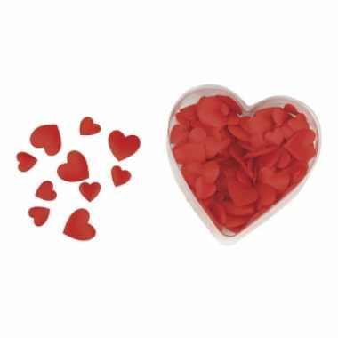 Valentijn luxe satijnen strooihartjes rood kado