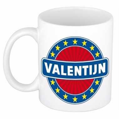 Valentijn naam koffie mok / beker 300 ml kado