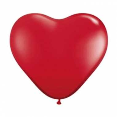 Valentijn qualatex hartjes ballon rood 28cm kado