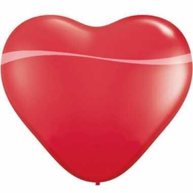 Valentijn qualatex hartjes ballon rood 90 cm kado