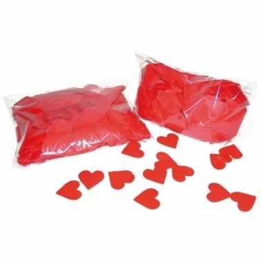 Valentijn rode hartjes confetti 250 gram kado