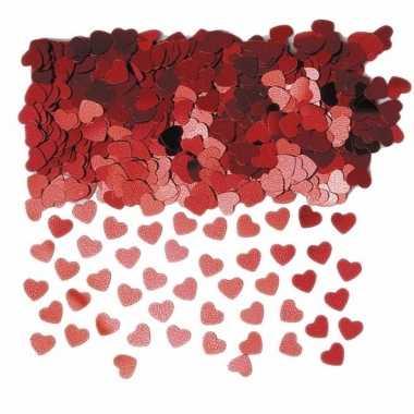 Valentijn rode hartjes confetti 3 zakjes kado