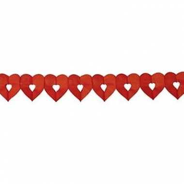 Valentijn rode hartjes slinger 6 meter kado