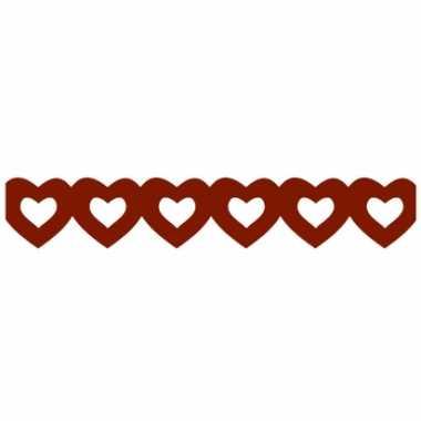 Valentijn rode hartjes slinger van papier kado