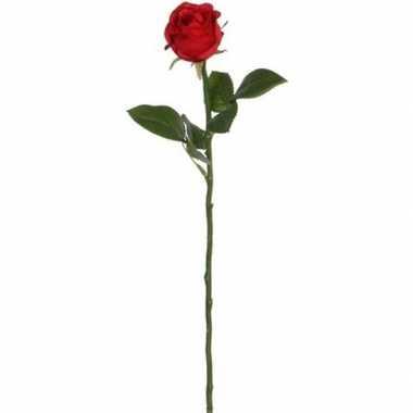 Valentijn rode roos kunstbloem 45 cm kado